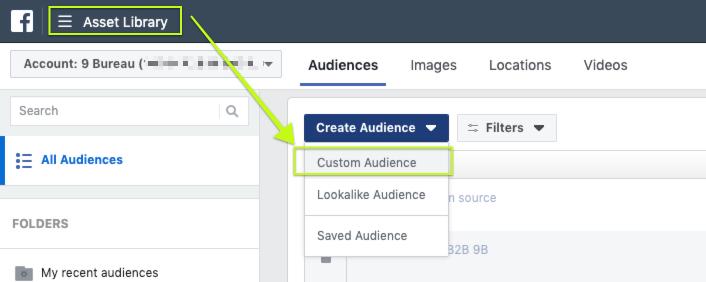 creare un pubblico personalizzato per la propria Facebook Ads - step 1
