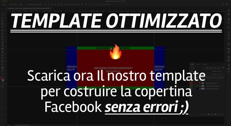 immagine copertina facebook: template ottimizzato per copertina pagina facebook