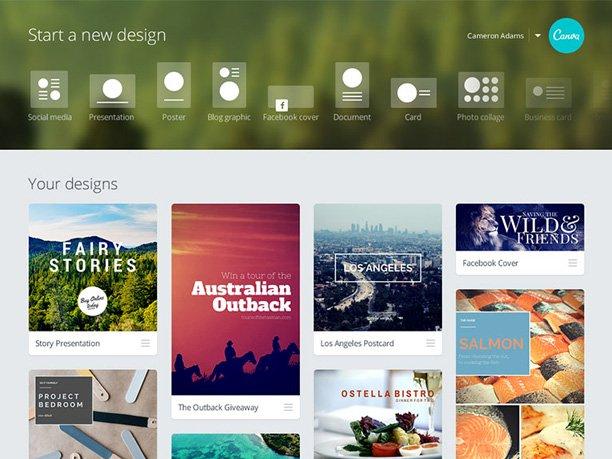 immagine copertina facebook: Canva: il tool consigliato da 9 Bureau - Digital Agency